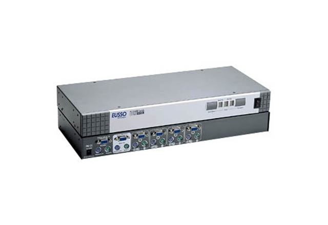 4-Port PS/2 KVM Switch Rack Mountable with OSD