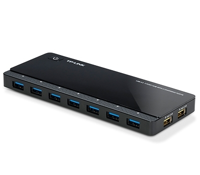 USB 3.0 7-Port Hub with 2 Charging Ports