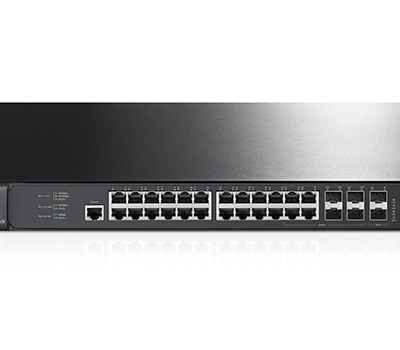 TP-Link JetStream 28-Port Gigabit Stackable L2+ Managed Switch
