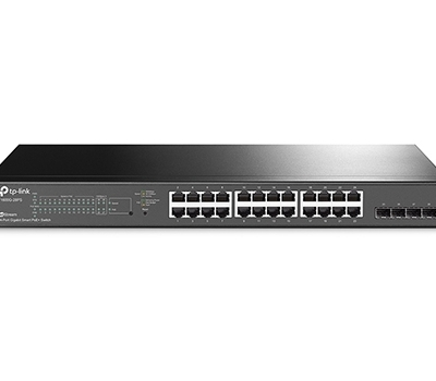 TP-Link JetStream 24-Port Gigabit Smart PoE+ Switch with 4 SFP Slots