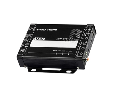 HDMI HDBaseT Receiver with Audio De-Embedding (4K@100m) (HDBaseT Class A)