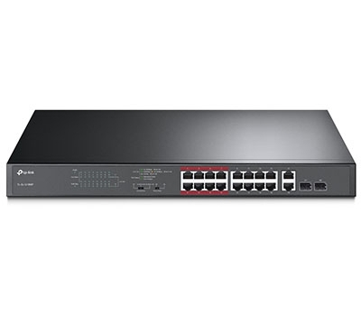 16-Port 10/100Mbps + 2-Port Gigabit Unmanaged PoE Switch