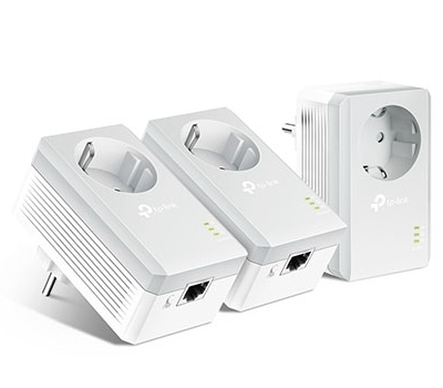 AV600 Powerline Adapter with AC Pass Through 3-Pack Network Kit