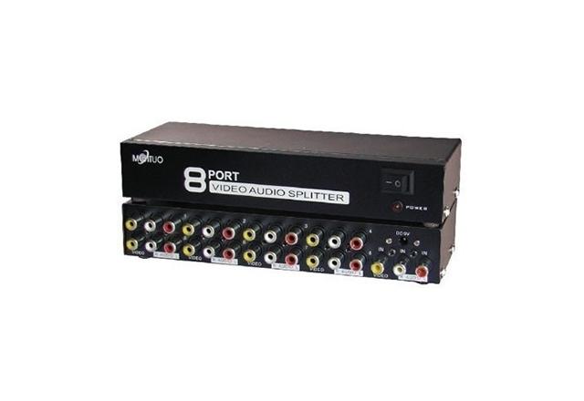 Maituo 8 Port AV Video Audio Splitter
