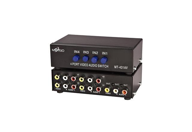 Maituo 4 Port AV Video Audio Splitter