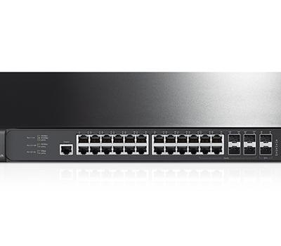 TP-Link JetStream 28-Port Gigabit Stackable L2+ Managed Switch