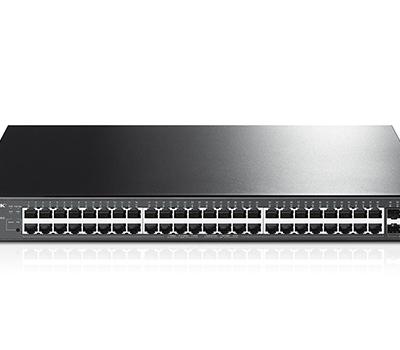 TP-Link JetStream 48-Port Gigabit Smart PoE+ Switch with 4 SFP Slots