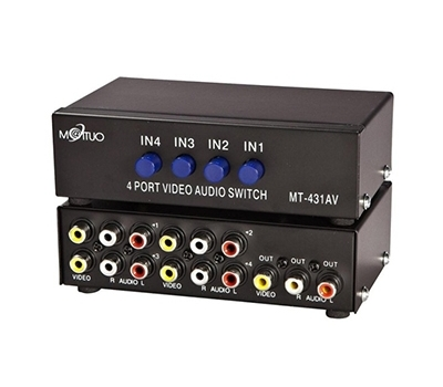 Maituo 4 Port AV Video Audio Splitter