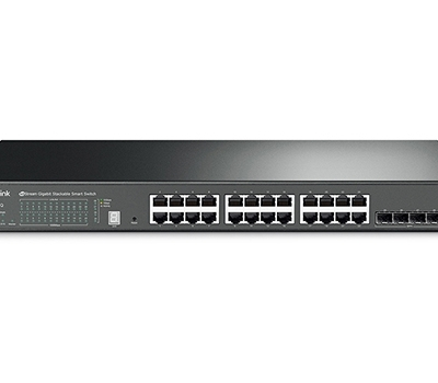 TP-Link JetStream 24-Port Gigabit Stackable Smart Switch with 4 10GE SFP+ Slots