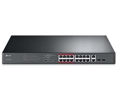 16-Port 10/100Mbps + 2-Port Gigabit Unmanaged PoE Switch