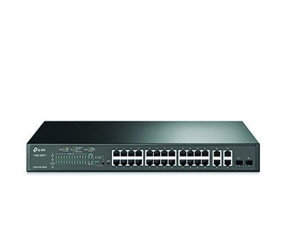 24-Port 10/100Mbps + 4-Port Gigabit Smart PoE+ Swi